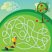 Vector Maze For Children