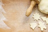 Abstract christmas food backing background