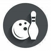 picture of bowling ball  - Bowling game sign icon - JPG