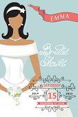 Bridal shower invitation with lovely bride female
