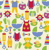 Newborn Baby Stuff Pattern - Illustration