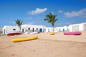 La Graciosa - Beach with boats in Caleta del Sebo