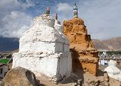 Stupas In Leh - Ladakh - Jammu And Kashmir - India