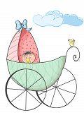 baby inside a stroller