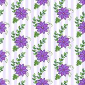 Floral seamless pattern. Flowers background