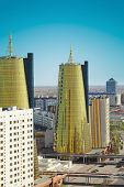 Astana. A Fragment Of The Central Part Of The City.