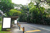 Bus Stop In Green Enviroment