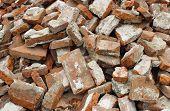 Demolished Brick Wall
