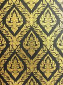 Thai Arts Pattern Wall Background