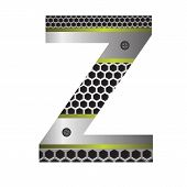 Perforated Metal Letter Z