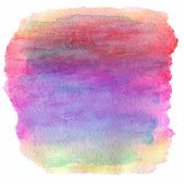 Watercolor Wet Background. Purple Pink Yellow Orange Wet Watercolor Background. Watercolor Top Abstr