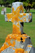 Cross shape in cemetery