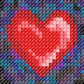 Mosaic Tile Heart