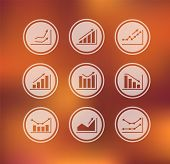 Vector - Icons With Charts And Graphs