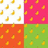 Vector Flat Fruits Seamless Pattern