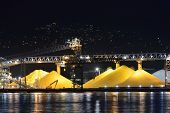 Waterfront Sulphur Piles, Port Of Vancouver