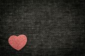 Heart And Love Symbol Against A Dark Background