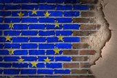 Dark Brick Wall With Plaster - Eu