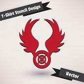 T-Shirt Stencil Design vector illustration. Template for your design