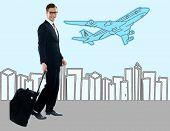 Businessman At The Airport Terminal