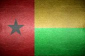 Closeup Screen Guinea Bissau Flag Concept Leather