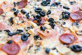 Pepperoni Pizza Close Up