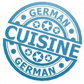 German Cuisine Stamp