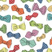 Bow tie seamless pattern.Funny Vector