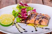 Salmon With A Reduction Of Balsamic Vinegar And Sugar