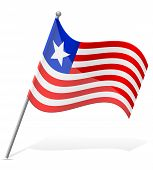 Flag Of Liberia Vector Illustration