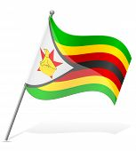 Flag Of Zimbabwe Vector Illustration