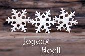 Snowflakes With Joyeux Noel