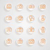 Button Shadows Camera Icons Set