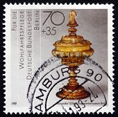 Postage Stamp Germany 1988 Lidded Goblet, 1536