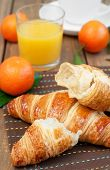 Croissant And Fruits
