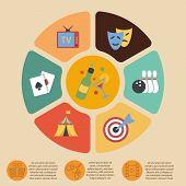 Entertainments graphics set