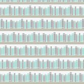 Seamless pattern with book on a bookshelf.