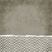 Square Brown And White Zigzag Chevron Torn Grunge Textured Background