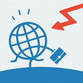Symbol of the global financial crisis