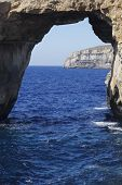 Famous Stone Arch Of Gozo Island