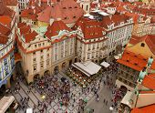 market square  in old town of Prague