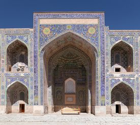 stock photo of samarqand  - View from Sher Dor Medressa  - JPG