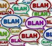 Blah - Speech Bubble Background