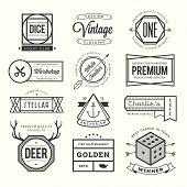 picture of stellar  - set of vintage logos badges and labels vector illustration - JPG