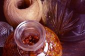 Bottle of raisins liqueur