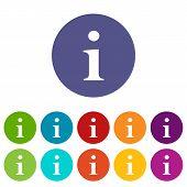 Info flat icon