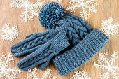 Mittens, Knitting Cap And Christmas-tree Decorations