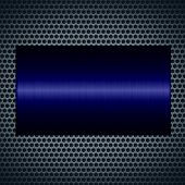 Navy metallic texture with holes metal plate background