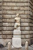 Pasquino statue in Rome (Italy)
