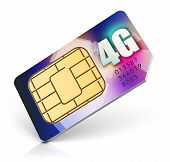 SIM card for 4G enabled operator